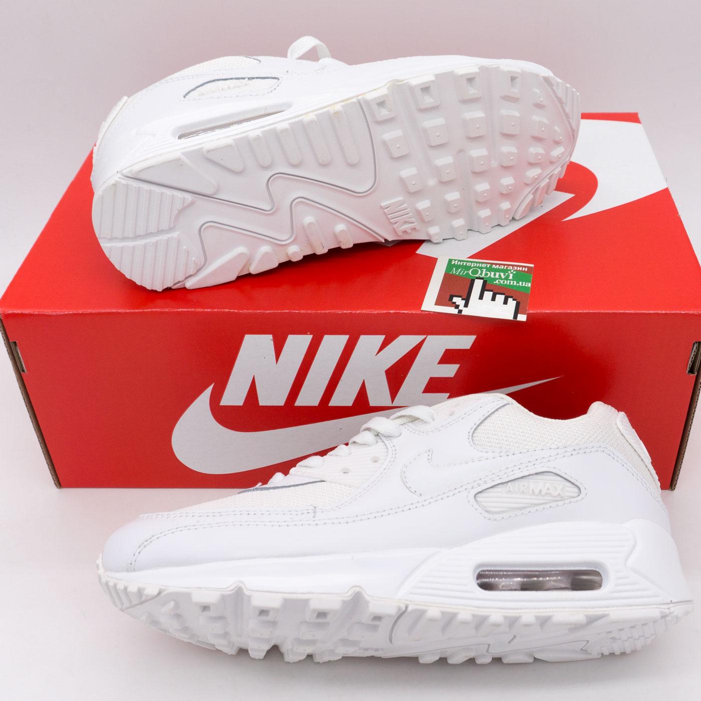 фото back Женские кроссовки Nike Air Max 90 белые back