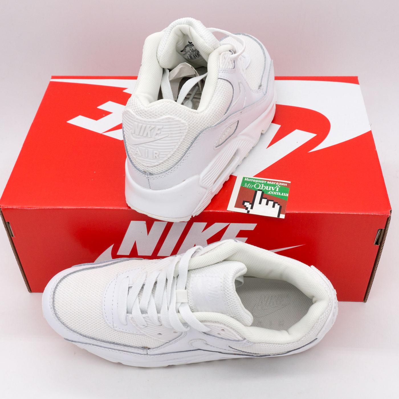 фото front Женские кроссовки Nike Air Max 90 белые front