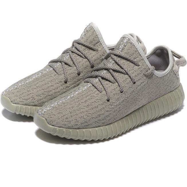 фото back Мужские кроссовки Adidas Kanye West Yeezy 350 серые - Топ качество back