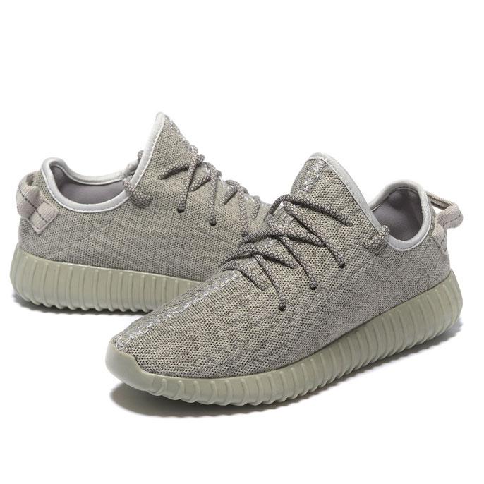 фото bottom Мужские кроссовки Adidas Kanye West Yeezy 350 серые - Топ качество bottom
