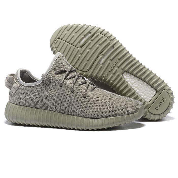 фото front Мужские кроссовки Adidas Kanye West Yeezy 350 серые - Топ качество front