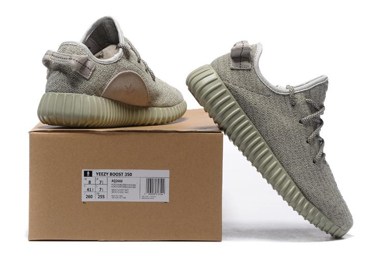 большое фото №6 Мужские кроссовки Adidas Kanye West Yeezy 350 серые - Топ качество