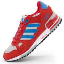 Мужские кроссовки Adidas zx750 красные - Топ качество