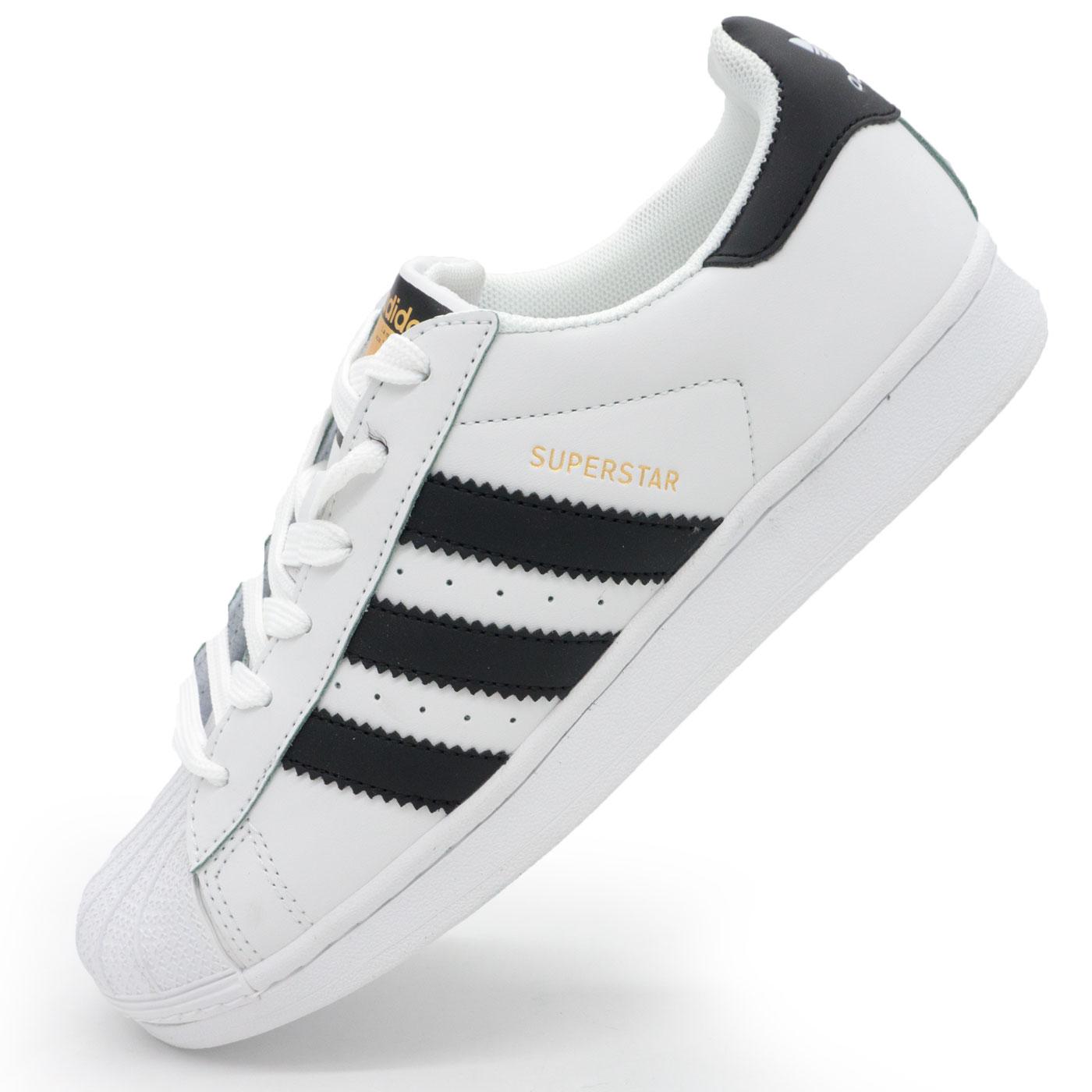 фото main Кроссовки Adidas superstar черные - золото main