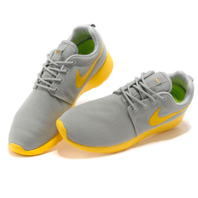 фото back Nike Roshe Run серо желтые back