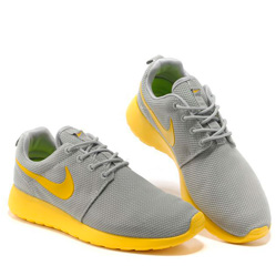 фото bottom Nike Roshe Run серо желтые bottom