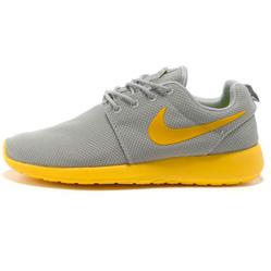 Nike Roshe Run серо желтые
