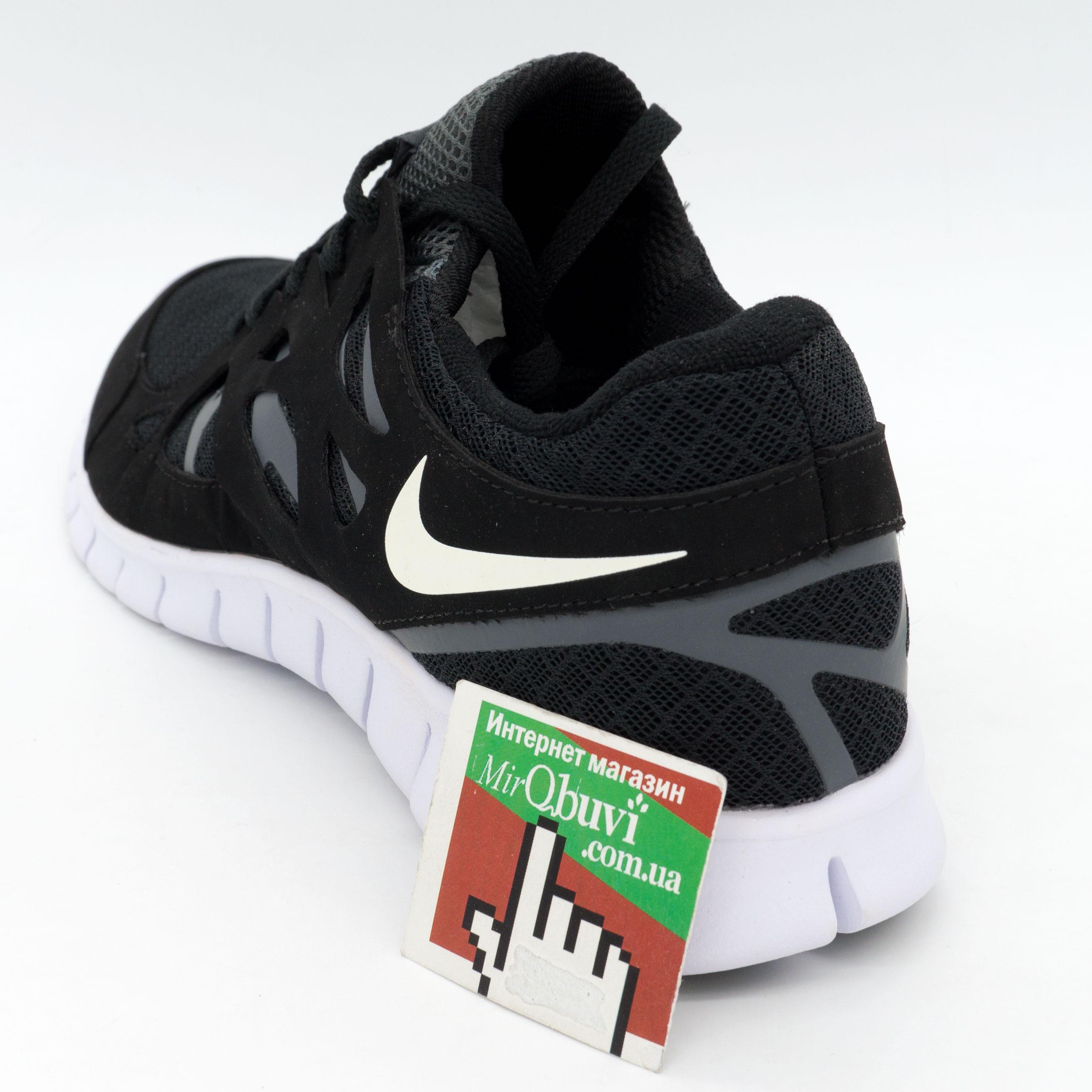 фото back Кроссовки для бега Nike Free Run 2 Найк Фри Ран, черно-белые back