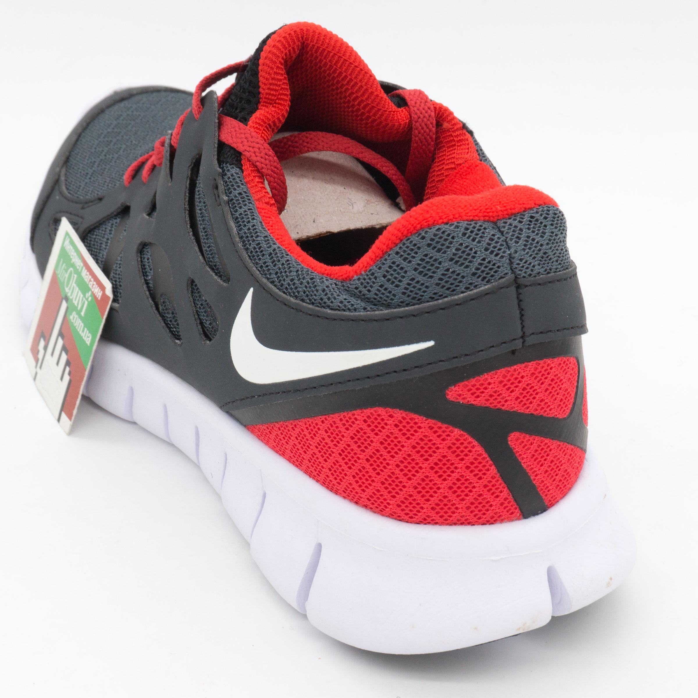 фото back Кроссовки для бега Nike Free Run 2 Найк Фри Ран, серо-красные back