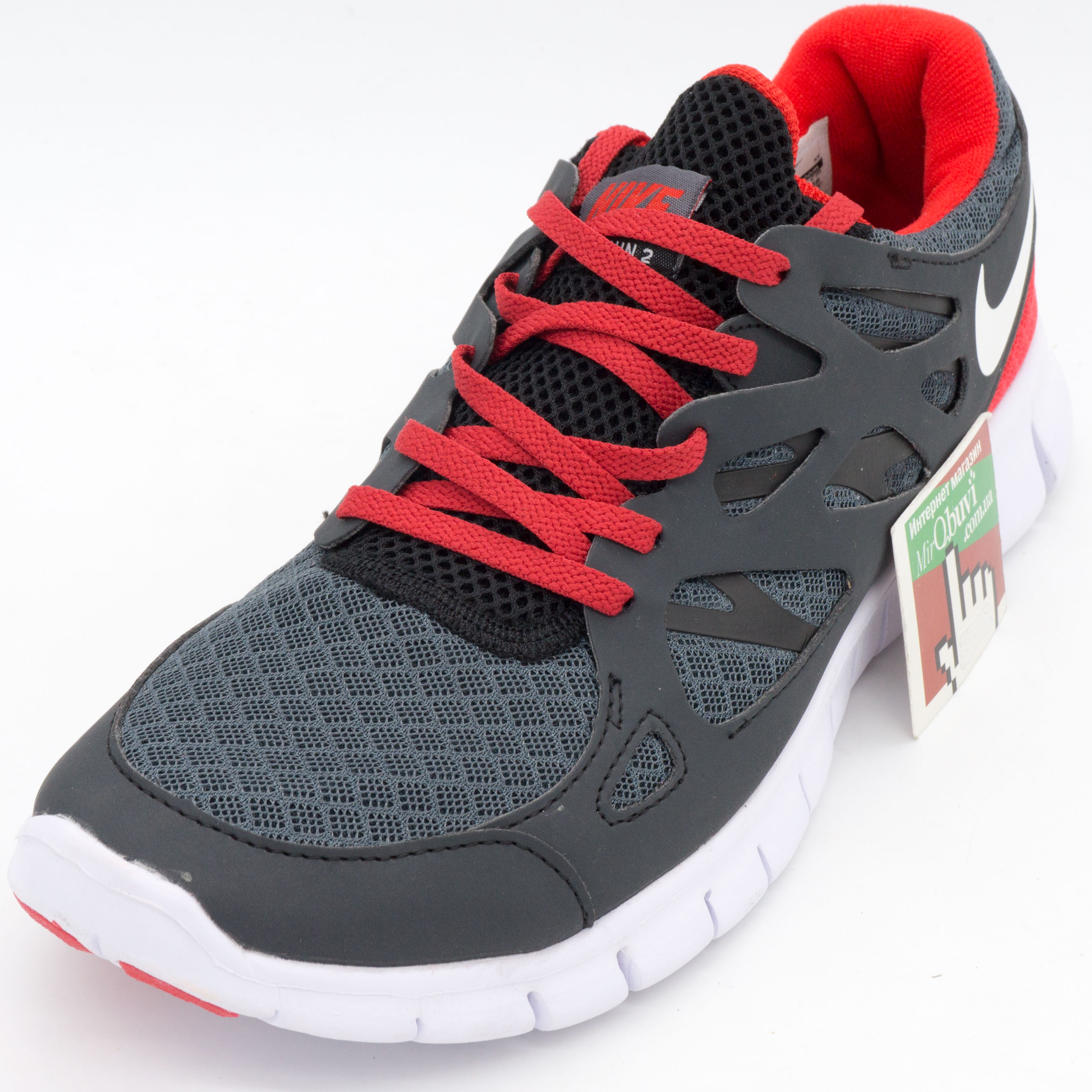 фото front Nike Free Run 2 серо-красные front