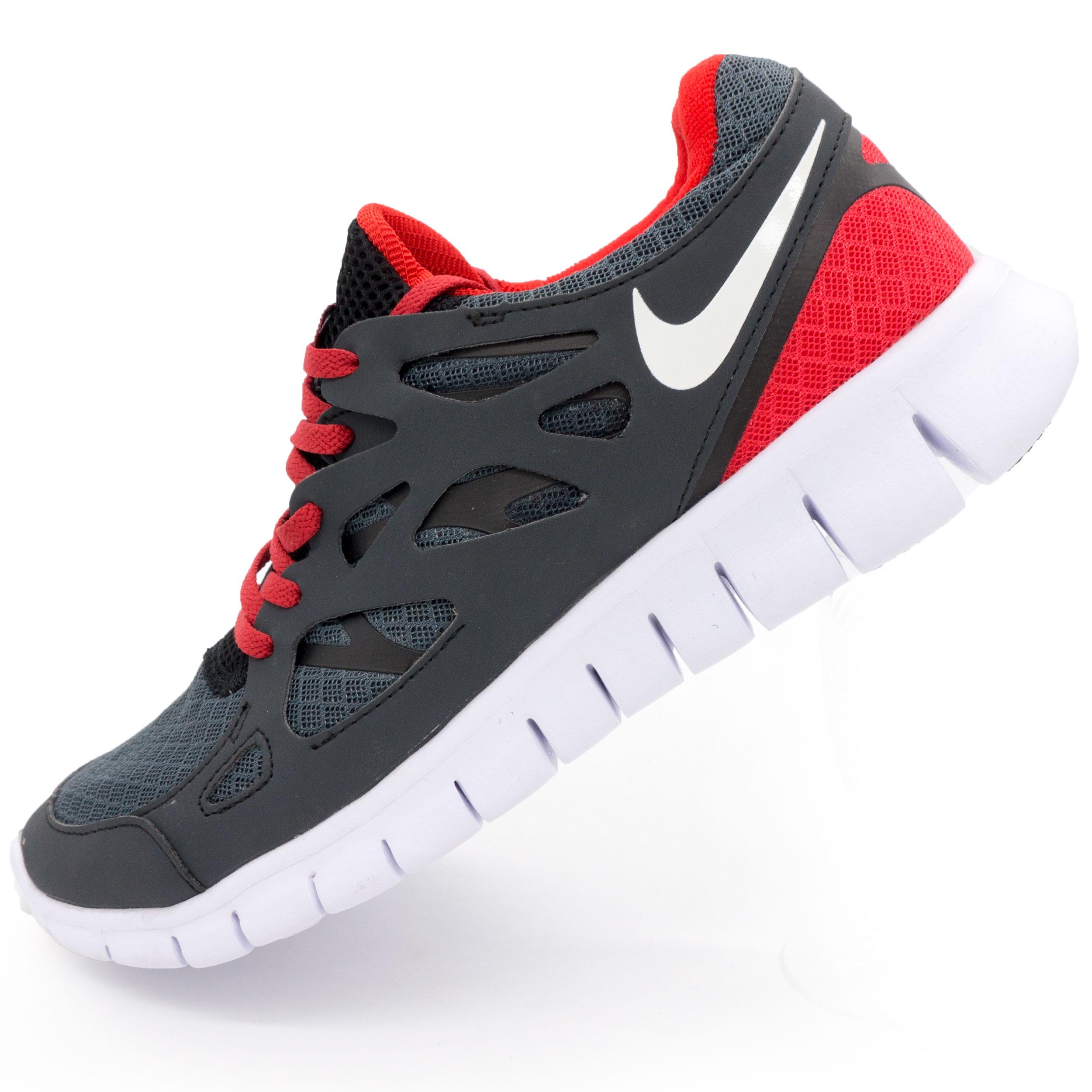 фото main Кроссовки для бега Nike Free Run 2 Найк Фри Ран, серо-красные main