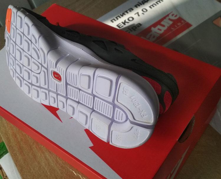 большое фото №5 Кроссовки для бега Nike Free Run 2 Найк Фри Ран, серо-красные