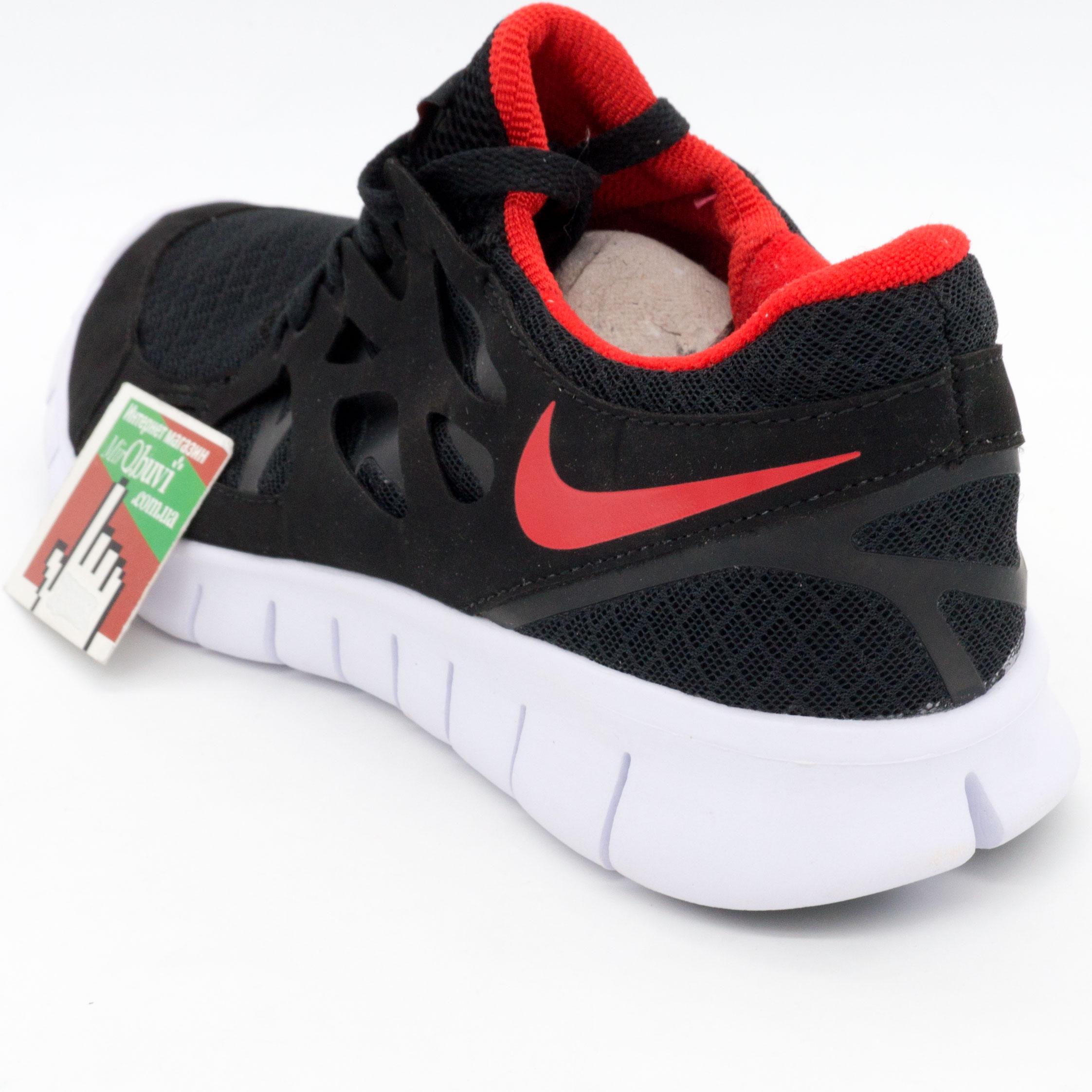 фото back Кроссовки для бега Nike Free Run 2 Найк Фри Ран, черные с красным back