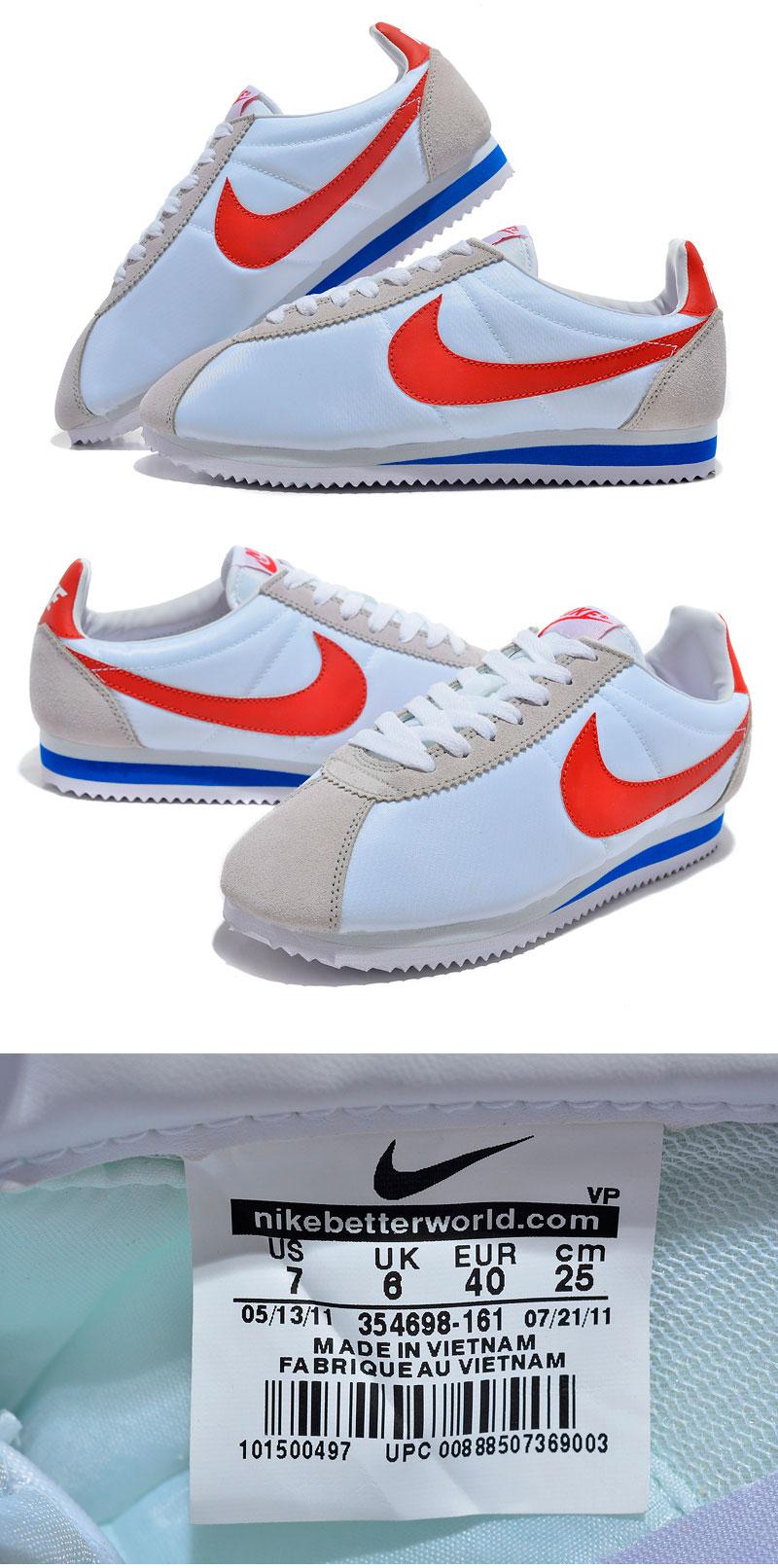 большое фото №6 Женские кроссовки Nike Classic Cortez Nylon 09 белые. Топ качество!