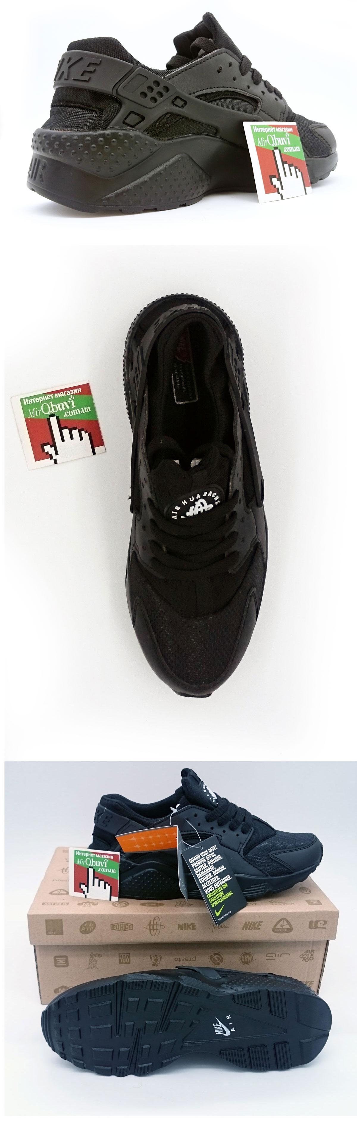 большое фото №5 Женские кроссовки Nike Huarache полностью черные