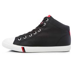 Мужские черные кожаные кеды RenBen 7181-2