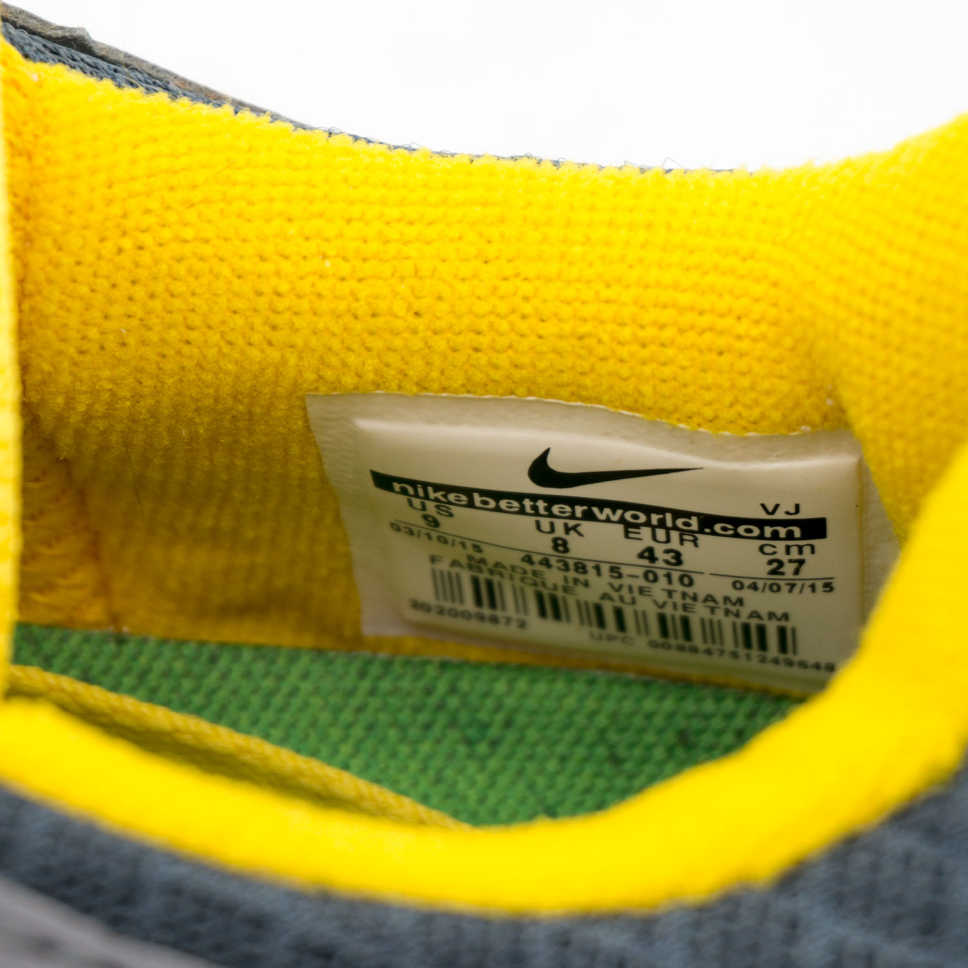 фото bottom Nike Free Run 2 443815-008 серо желтые bottom