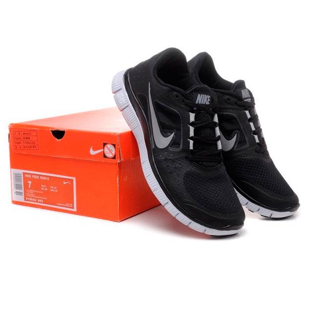 фото front Женские кроссовки для бега Nike Free Run 3 черные front