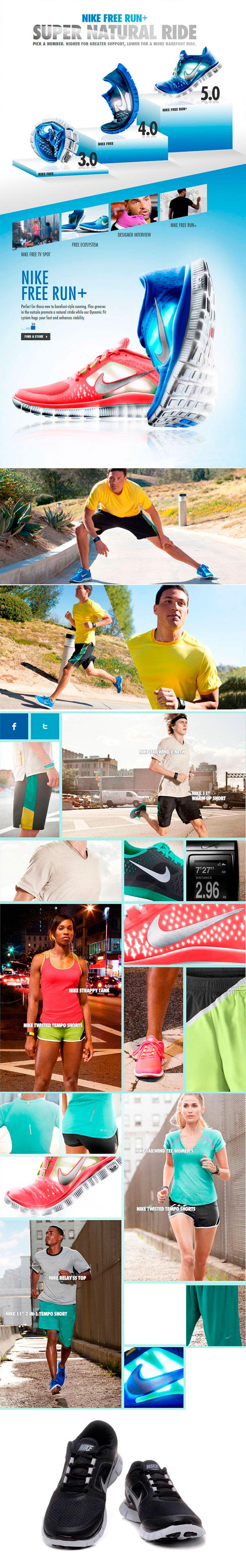 большое фото №6 Женские кроссовки для бега Nike Free Run 3 черные