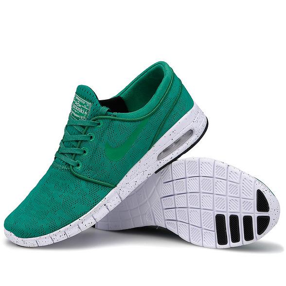 фото bottom Nike SB Stefan Janoski Max зеленые bottom