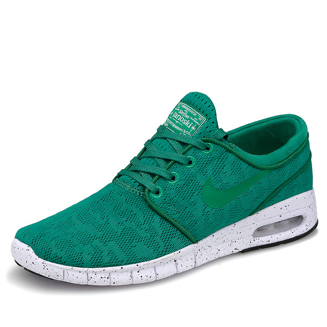 фото front Nike SB Stefan Janoski Max зеленые front