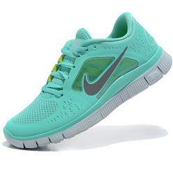 Женские кроссовки для бега Nike Free Run 3 берюзовые