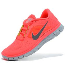 Женские кроссовки для бега Nike Free Run 3 розовые