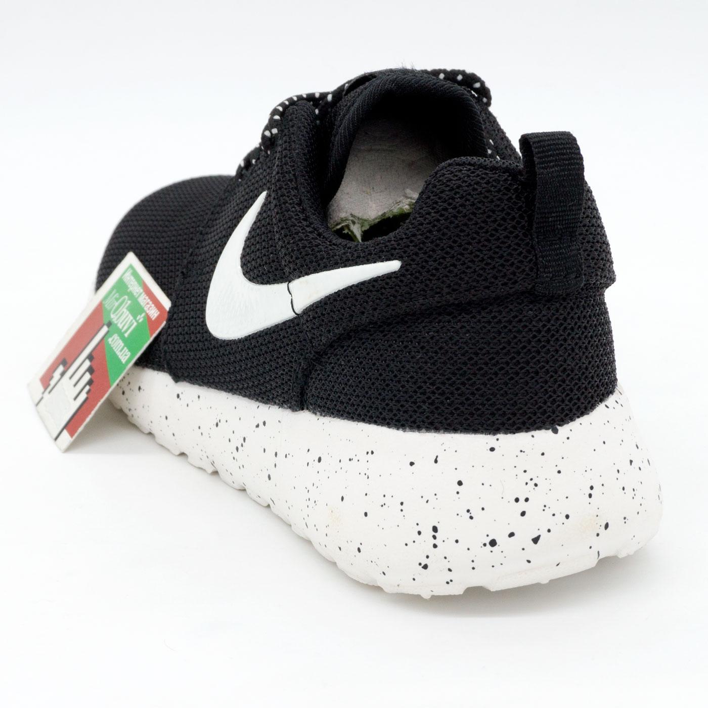 фото back Nike Roshe Run черно белые в крапинку. Топ качество!!! back