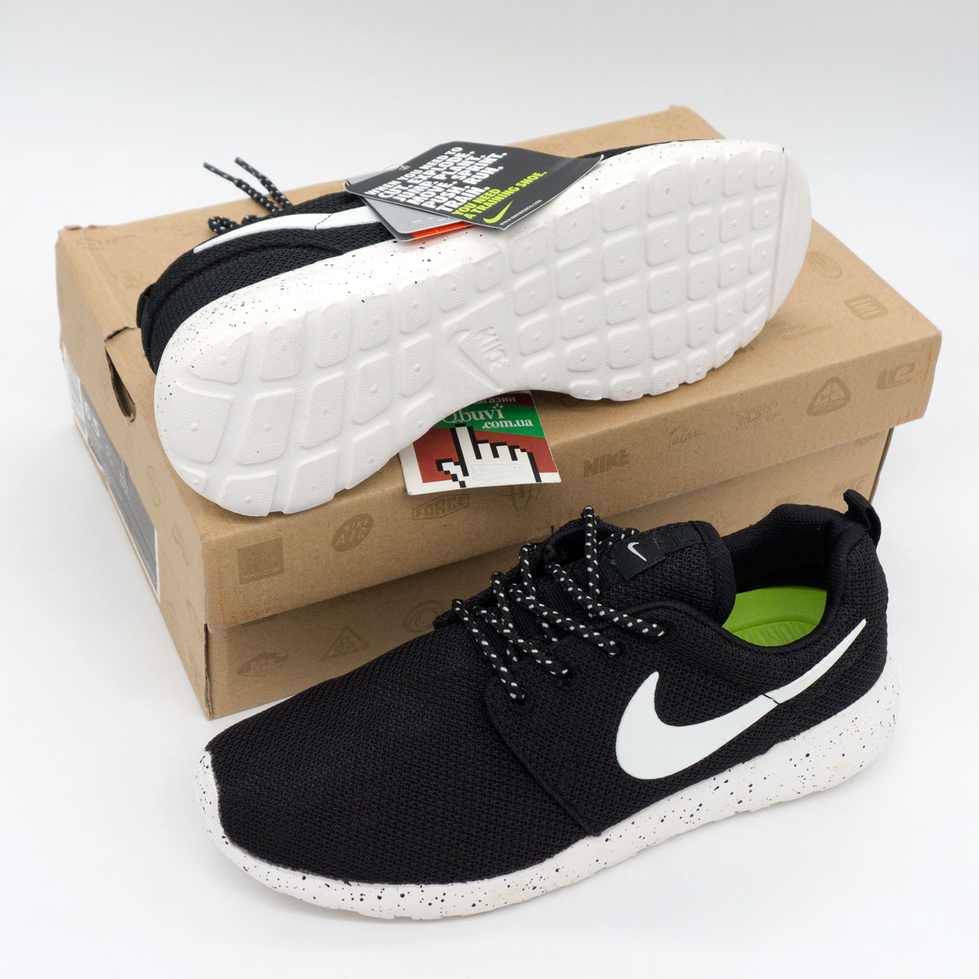 фото bottom Nike Roshe Run черно белые в крапинку. Топ качество!!! bottom