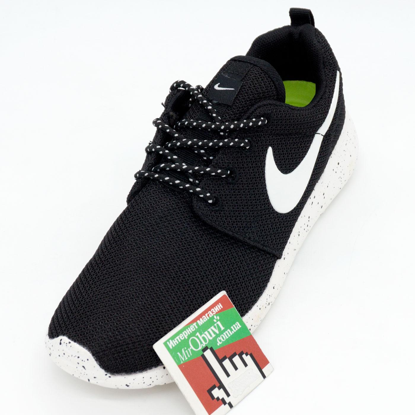 фото front Nike Roshe Run черно белые в крапинку. Топ качество!!! front