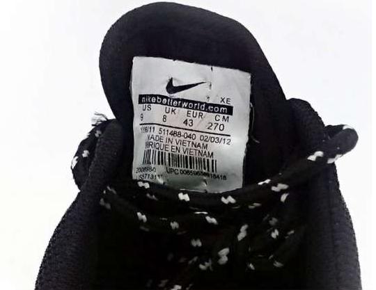 большое фото №6 Женские кроссовки Nike Roshe Run черно белые