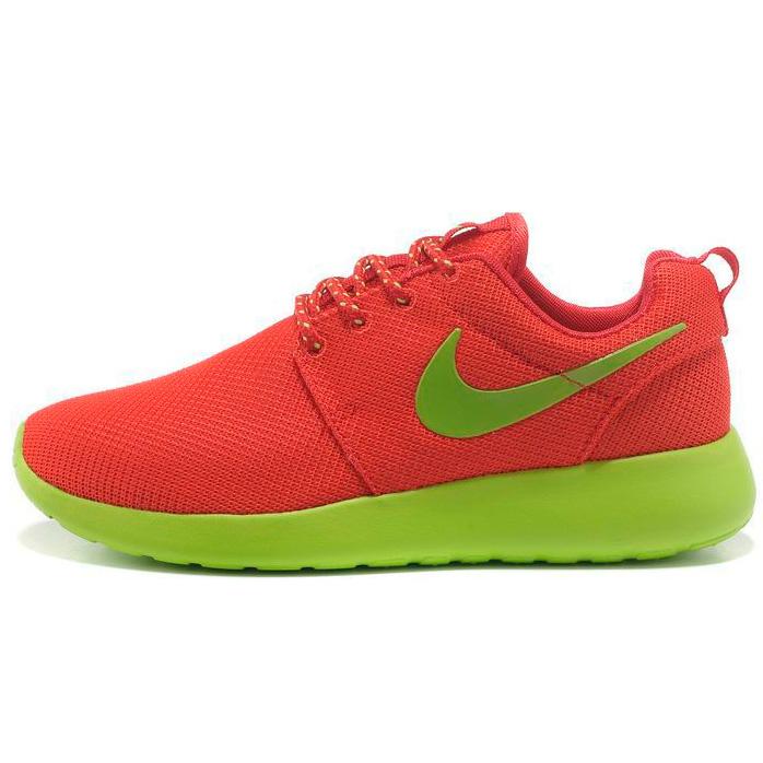фото main Женские кроссовки Nike Roshe Run красные с зеленым. Топ качество!!! main