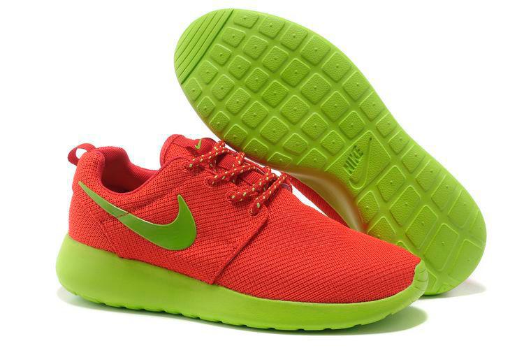 большое фото №6 Женские кроссовки Nike Roshe Run красные с зеленым. Топ качество!!!