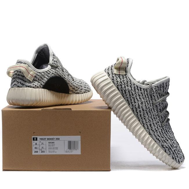 фото back Кроссовки Adidas Kanye West Yeezy 350 белые с серым - Топ качество back