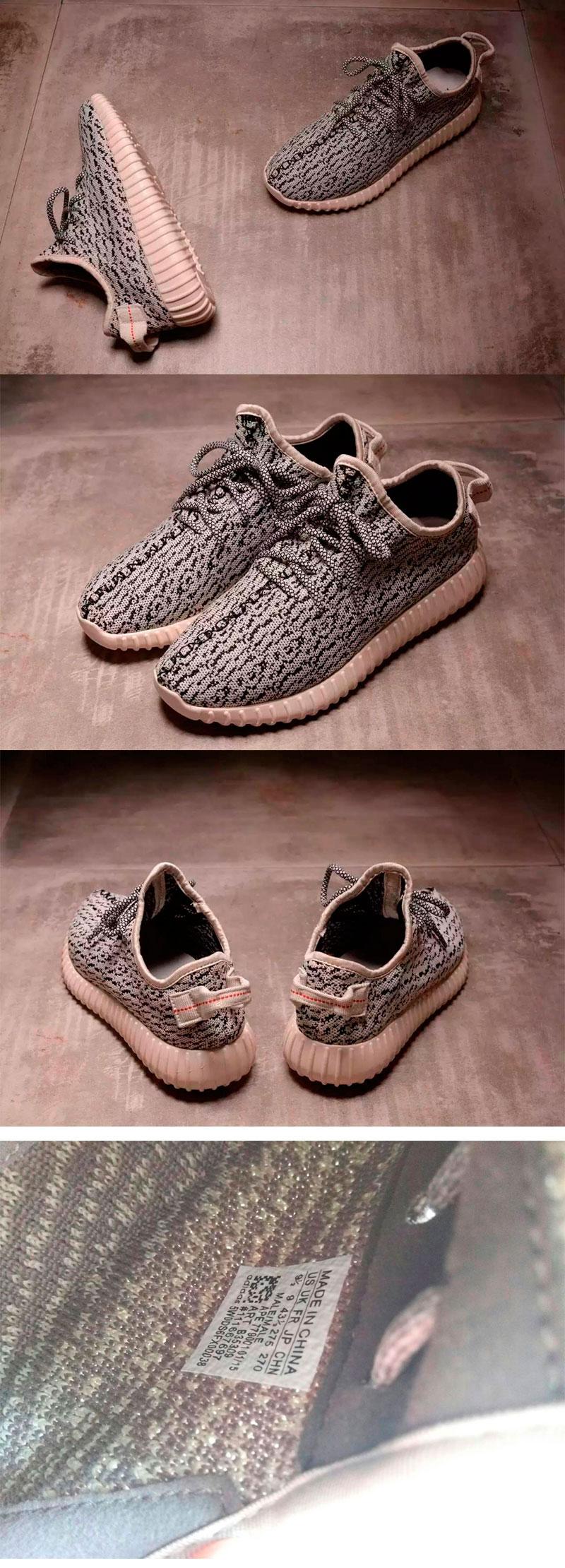 большое фото №6 Кроссовки Adidas Kanye West Yeezy 350 белые с серым - Топ качество