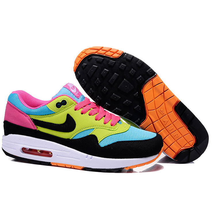 фото back Nike Air Max 87 moon black yellow pink back