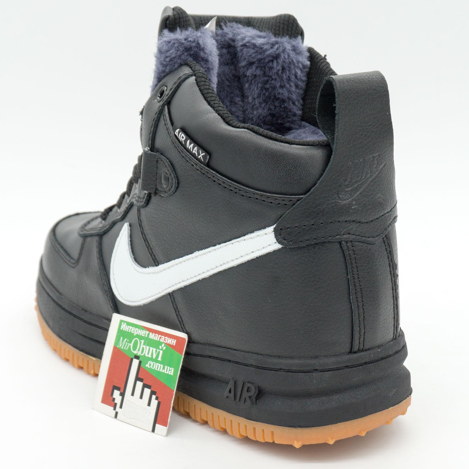 фото front Зимние Nike Lunar Force 1 высокие черн front