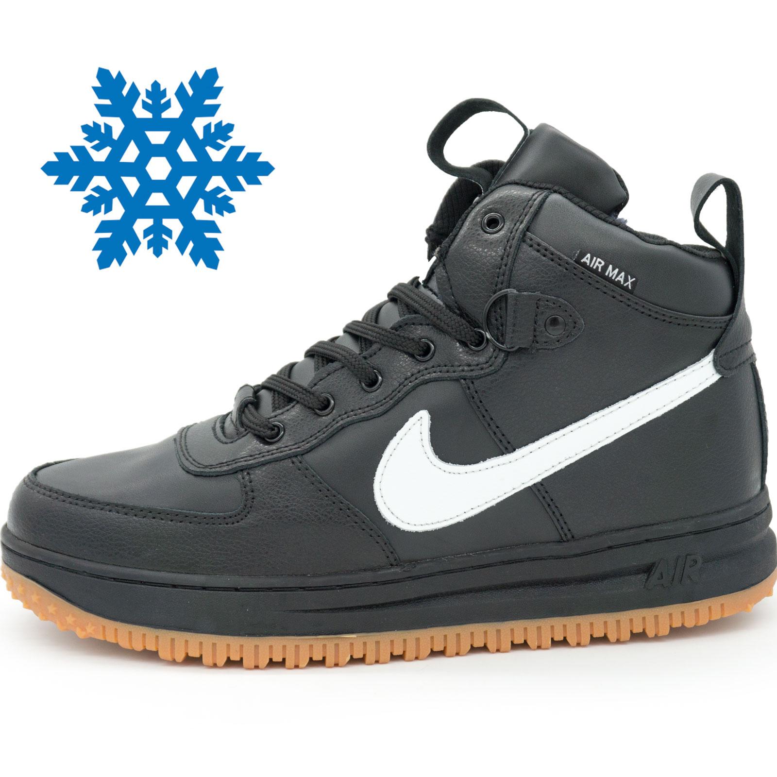 Зимние кроссовки Nike Lunar Force 1 высокие черные, купить высокие ... c1308abb0fe