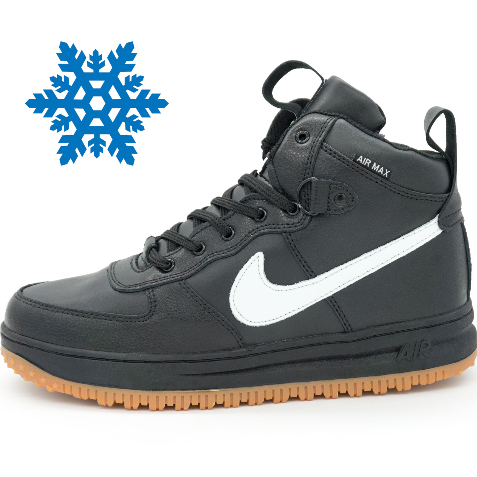 фото main Зимние Nike Lunar Force 1 высокие черн main