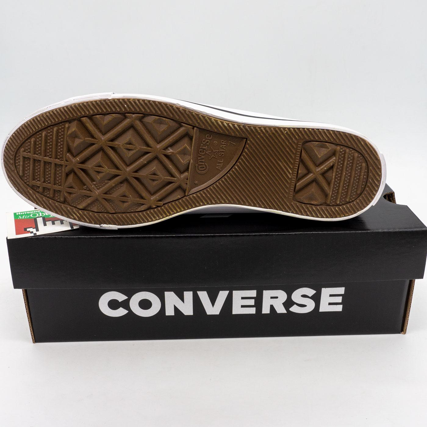 фото bottom Кеды Converse высокие черно-белые bottom