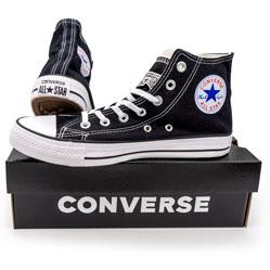 фото Кеды Converse высокие черно-белые
