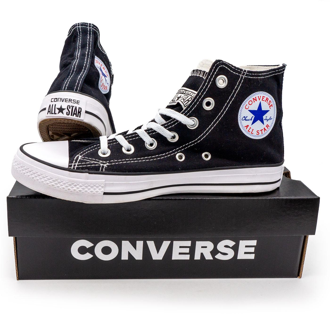 фото main Кеды Converse высокие черно-белые main
