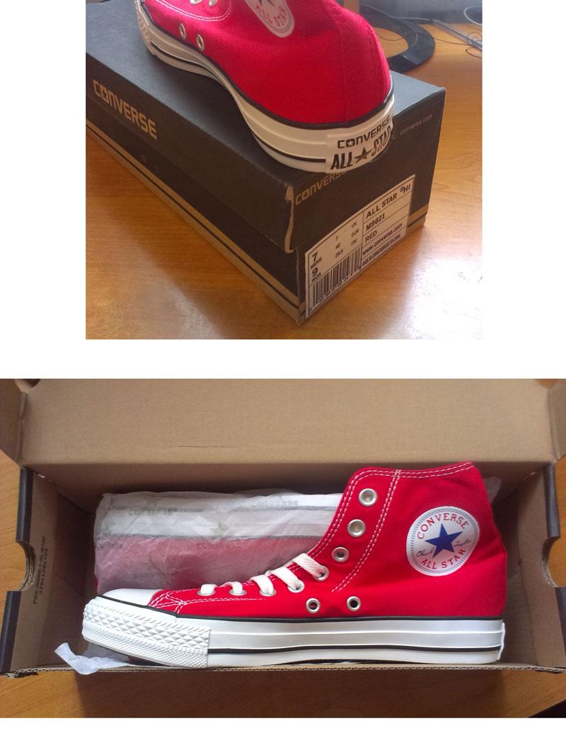 большое фото №6 Кеды Converse высокие красные 2 - Топ качество!