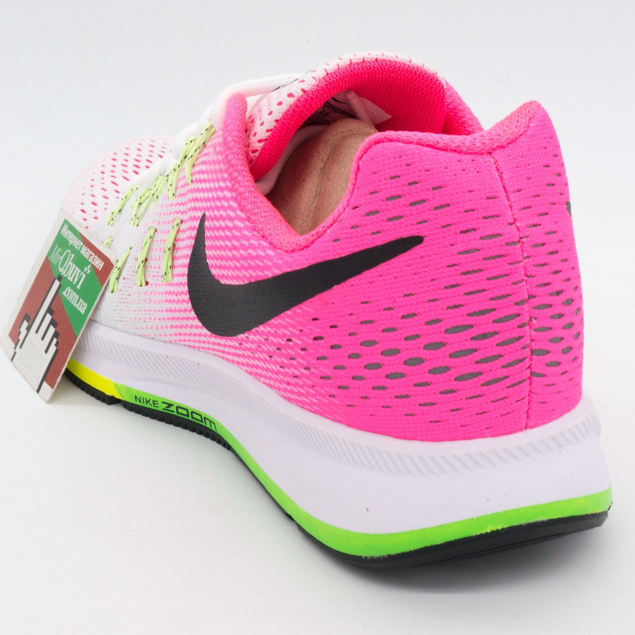 фото back Женские кроссовки для бега Nike Zoom Pegasus 33 светло-розовые. Топ качество! back