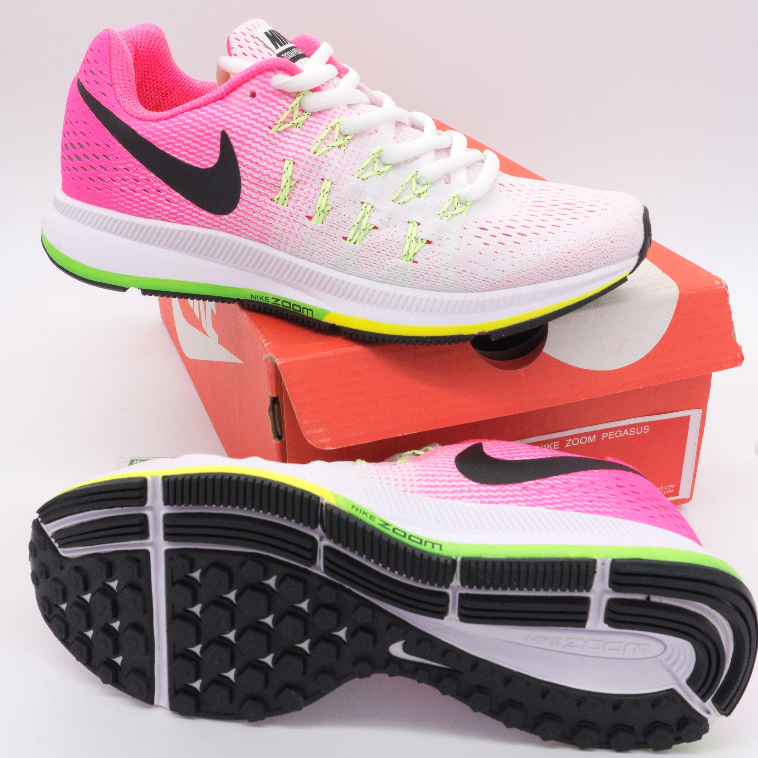 фото bottom Женские кроссовки для бега Nike Zoom Pegasus 33 светло-розовые. Топ качество! bottom