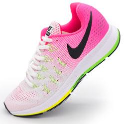 фото Женские кроссовки для бега Nike Zoom Pegasus 33 светло-розовые. Топ качество!