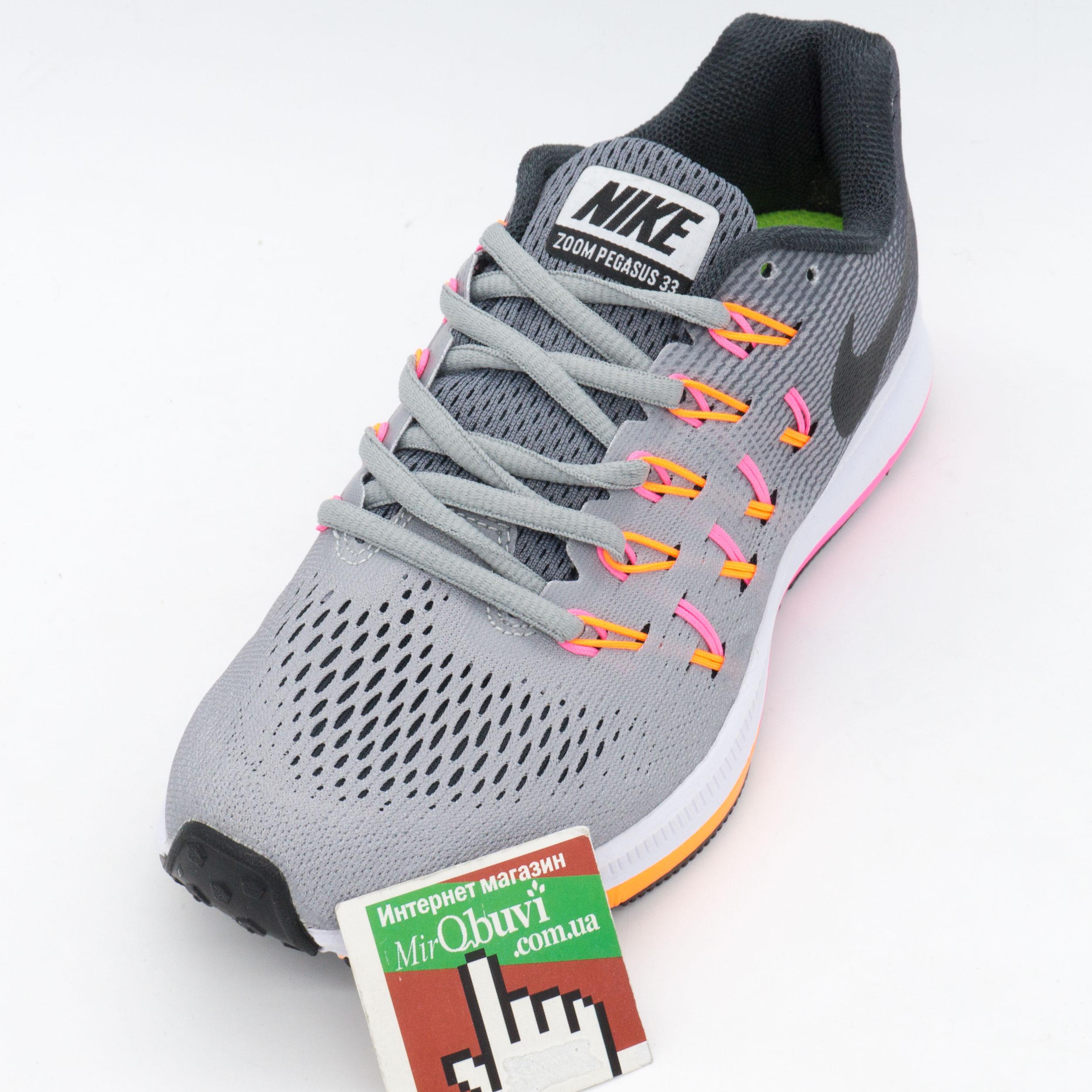 фото back Женские кроссовки для бега Nike Zoom Pegasus 33 Серые. Топ качество! back