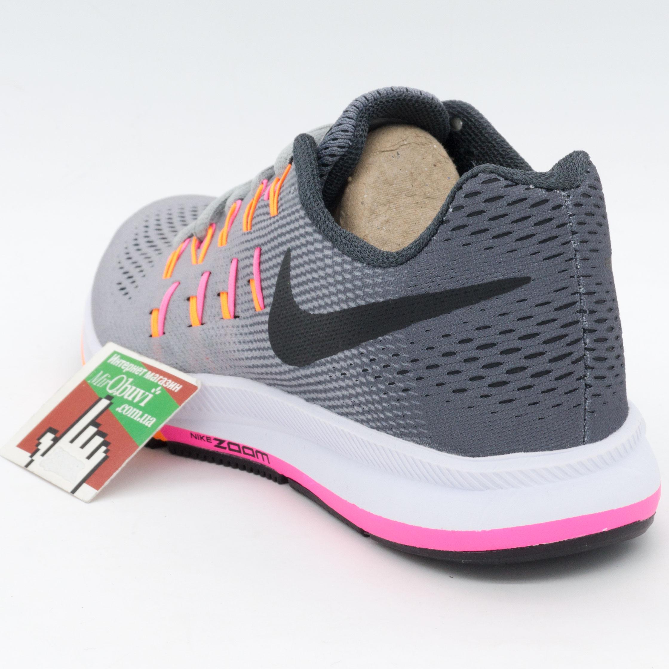 фото front Женские кроссовки для бега Nike Zoom Pegasus 33 Серые. Топ качество! front