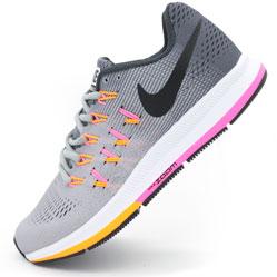 Женские кроссовки для бега Nike Zoom Pegasus 33 Серые. Топ качество!