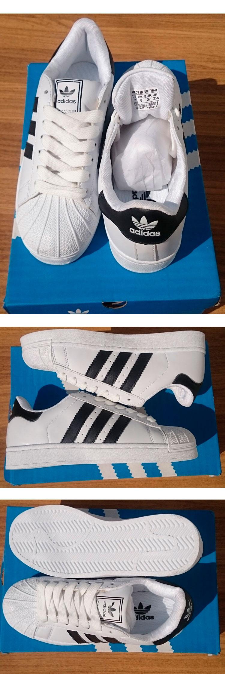 большое фото №6 Женские кроссовки Adidas superstar черно-белые